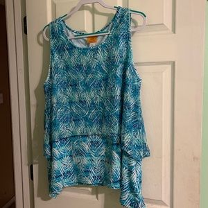 Ruby Rd. Blue Blouse